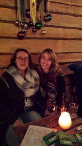 Iris en ik. drijvende kerstmarkt Leiden